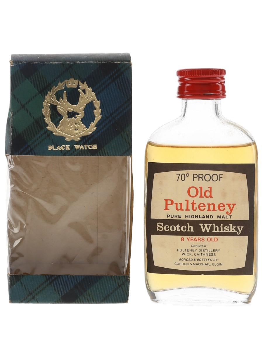 Old Pulteney 8 Year Old Bottled 1970s - Gordon & MacPhail 5cl / 40%