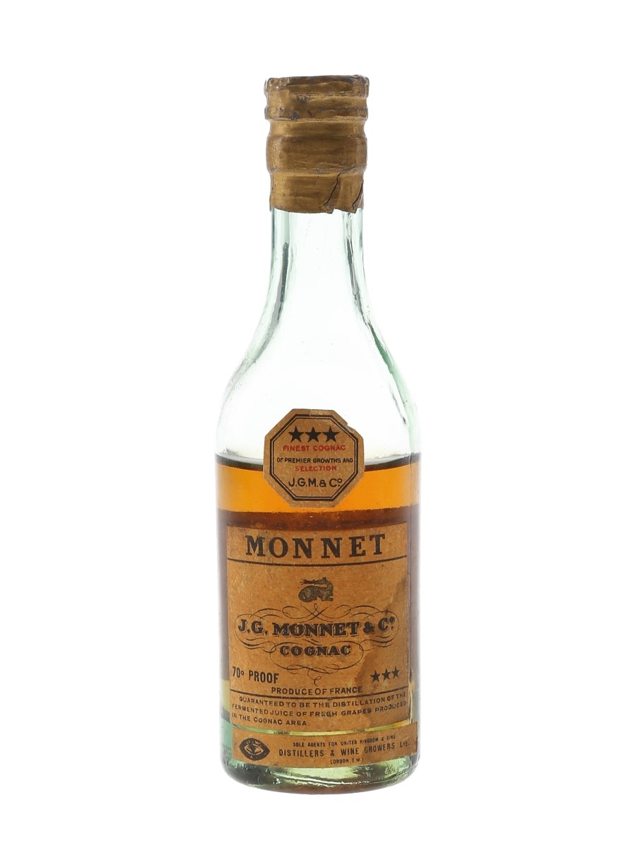 Monnet 3 Star Bottled 1940s-1950s - Distillers & Wine Growers Ltd. 5cl / 40%
