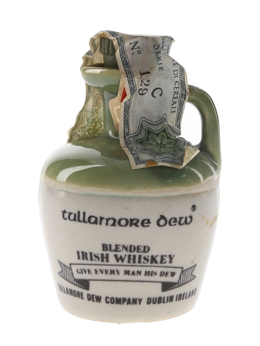 Tullamore Dew Ceramic Decanter Bottled 1970s - Spirit 4.68cl / 40%