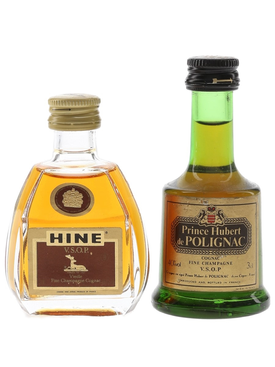 Hine & Prince Hubert De Polignac VSOP Bottled 1980s 2 x 3cl / 40%