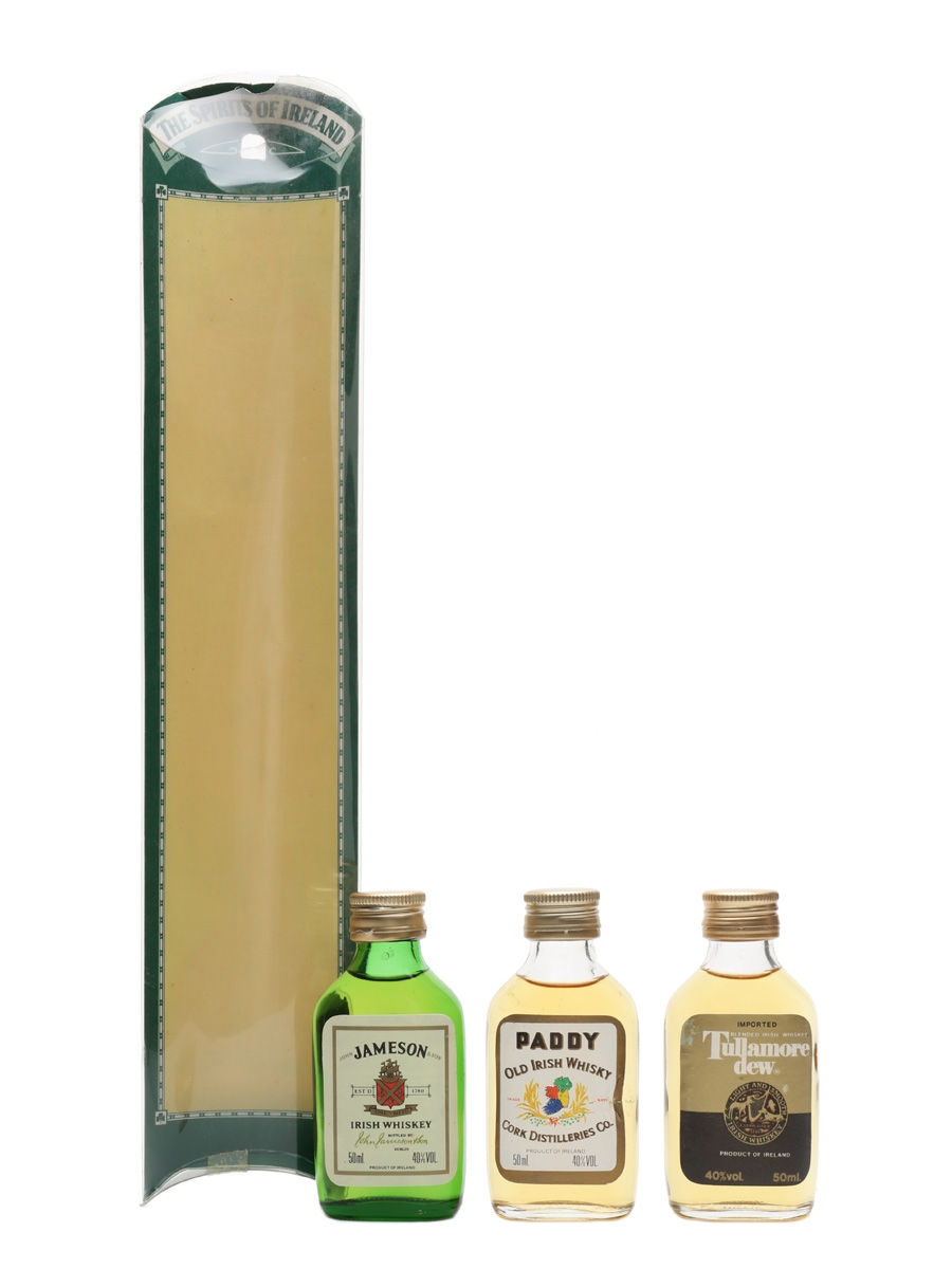 The Spirits Of Ireland Bottled 1980s - Paddy, Tullamore Dew & Jameson 3 x 5cl / 40%