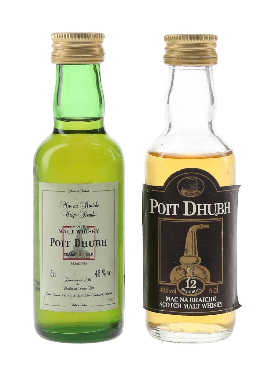 Poit Dhubh 12 Year Old Bottled 1990s 2 x 5cl