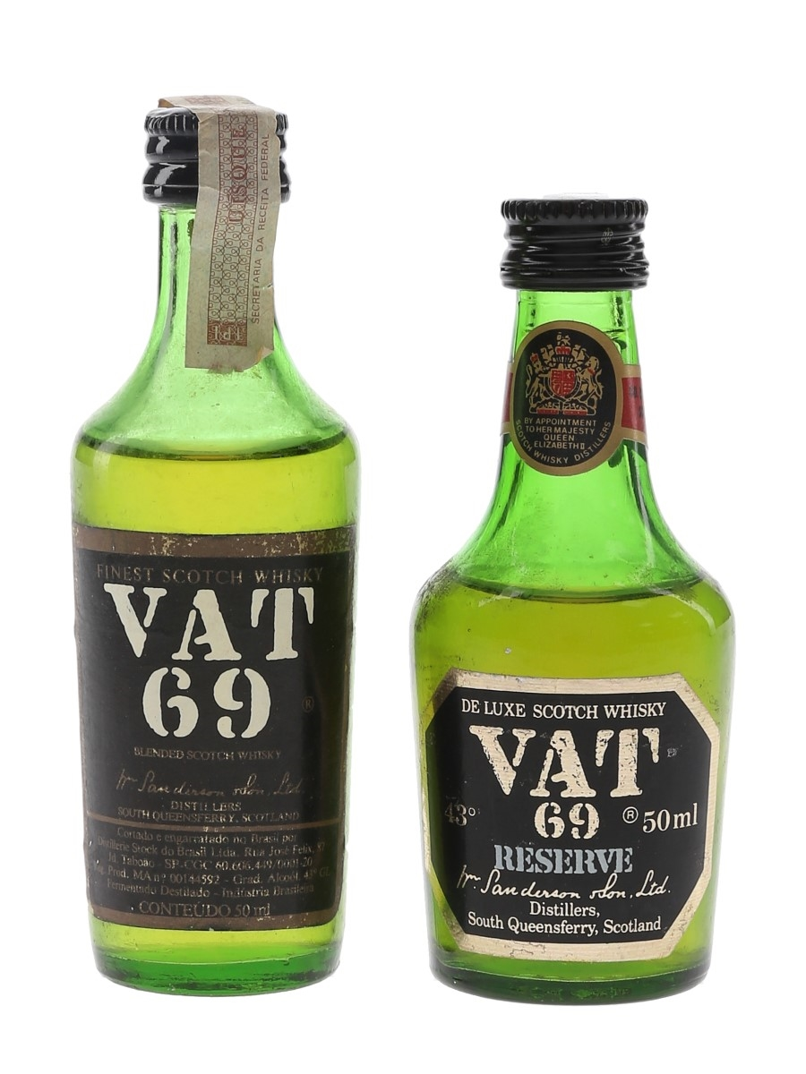 Vat 69 Bottled 1980s 2 x 5cl / 43%