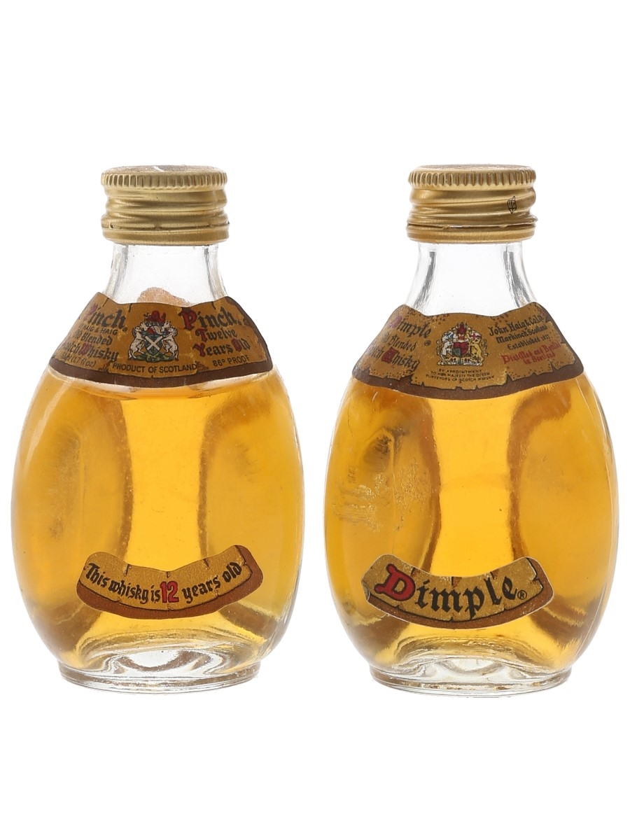 Dimple & Pinch Bottled 1970s 2 x 5cl