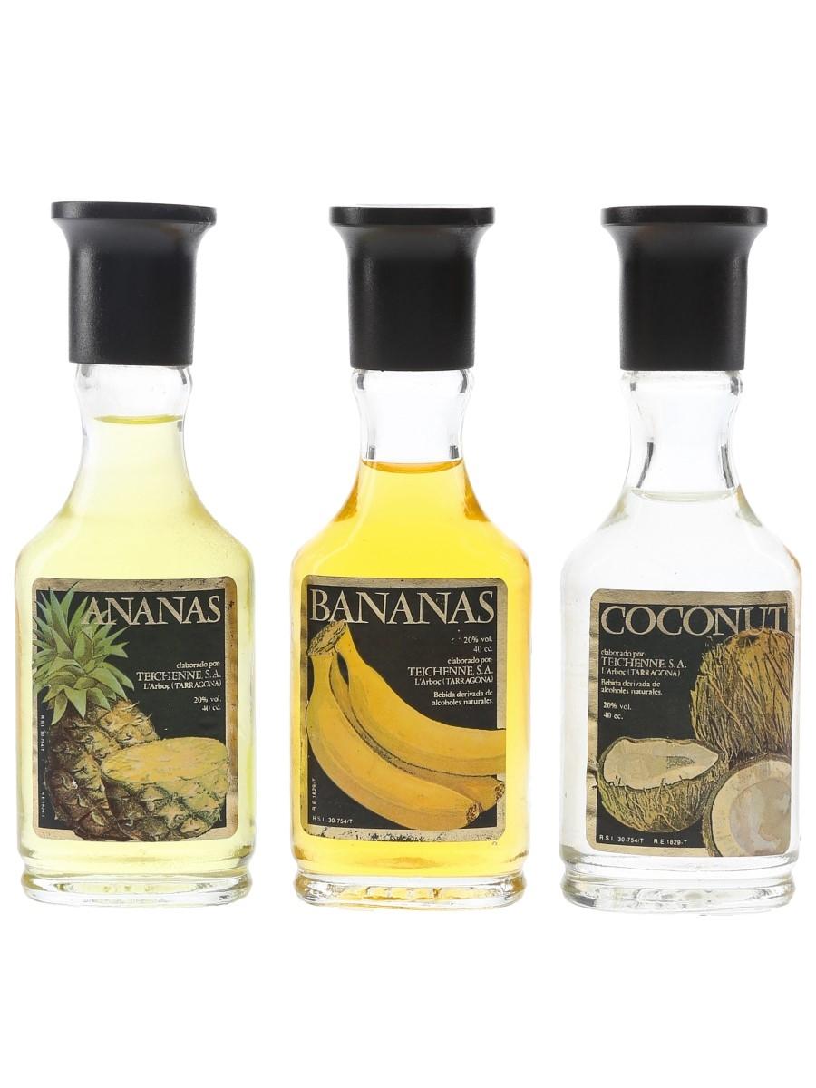 Teichenne Ananas, Bananas & Coconut Liqueurs  3 x 4cl / 20%