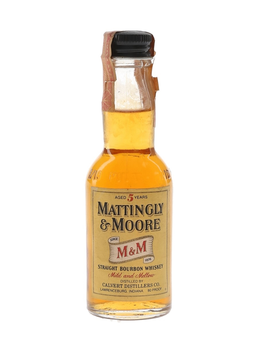 Mattingly & Moore 5 Year Old Bottled 1970s 4.7cl / 40%