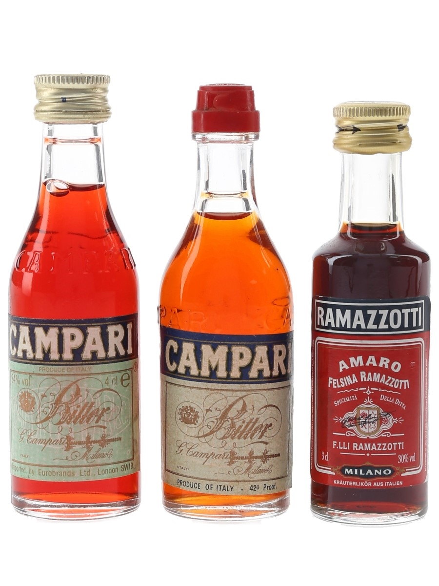 Campari & Ramazzotti Liqueurs  3 x 3cl-4cl