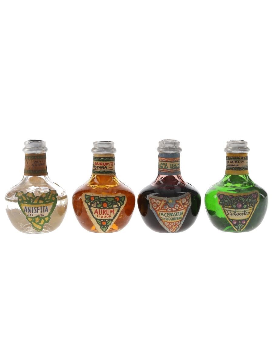 Aurum Liqueurs Bottled 1950s-1960s 4 x 2.5cl