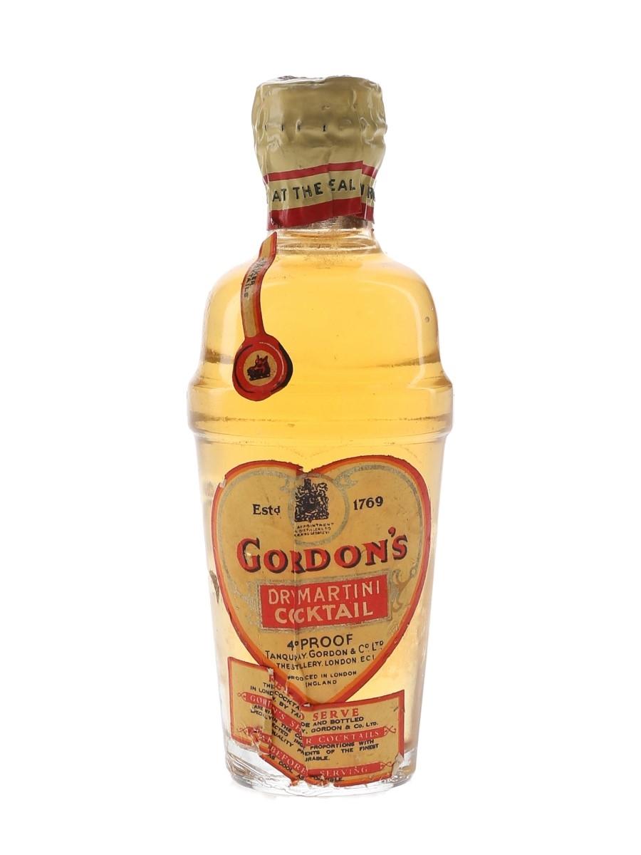 Gordon's Dry Martini Cocktail Spring Cap Bottled 1940s-1950s 5cl / 26%