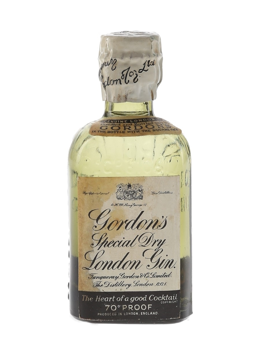 Gordon's Special Dry London Gin Spring Cap Bottled 1940s-1950s 5cl / 40%