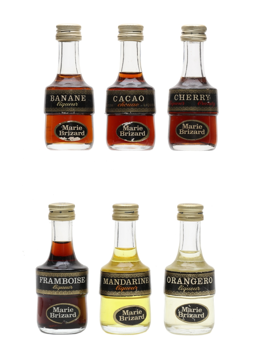 Marie Brizard Liqueurs Bottled 1970s 6 x 2.9cl