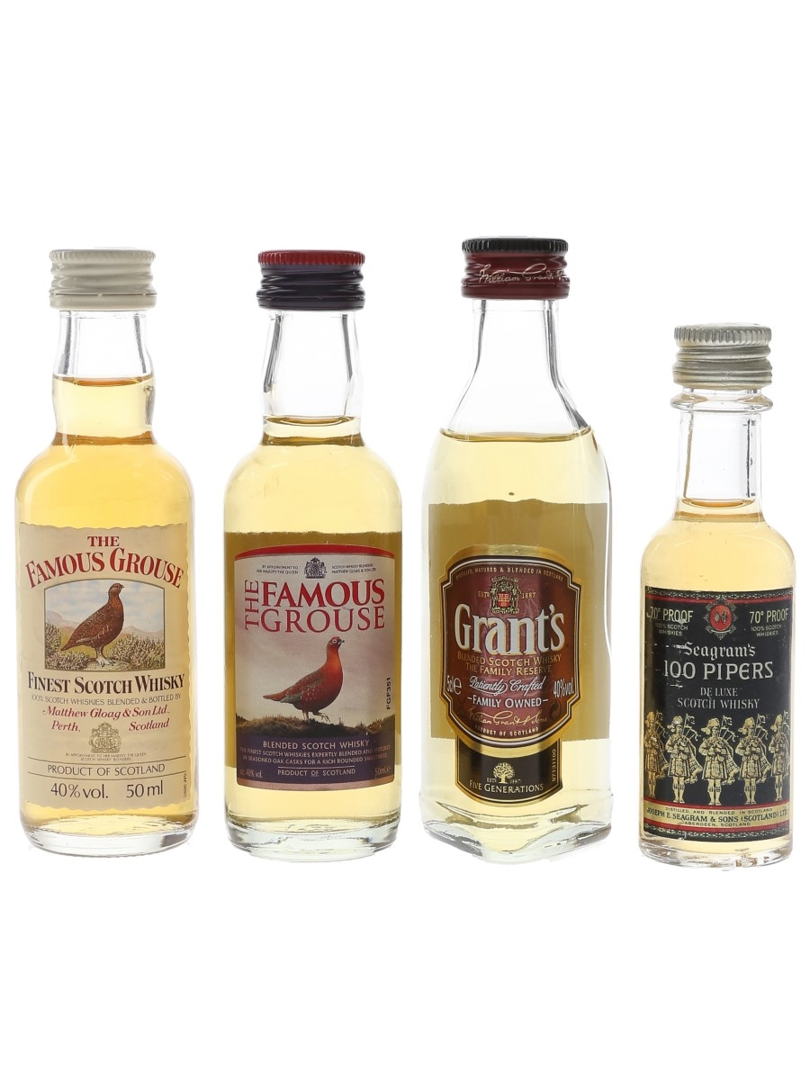 Famous Grouse, Grant's & Seagram's  4 x 3cl-5cl / 40%
