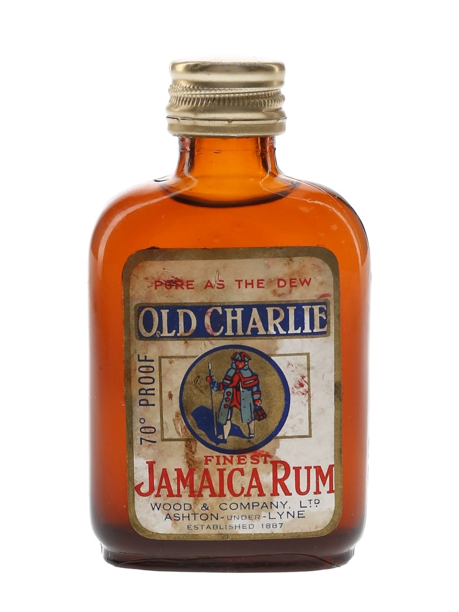 Old Charlie Finest Jamaica Rum Bottled 1940s-1950s - Wood & Company 5cl / 40%