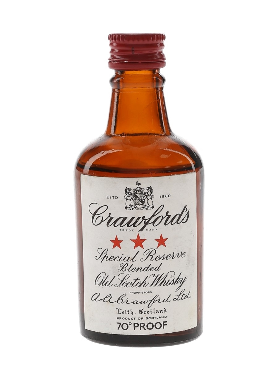 Crawford's 3 Star Bottled 1960s-1970s 5cl / 40%