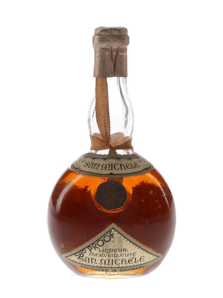 San Michele Liqueur Merveilleuse Bottled 1950s 5.5cl / 33%