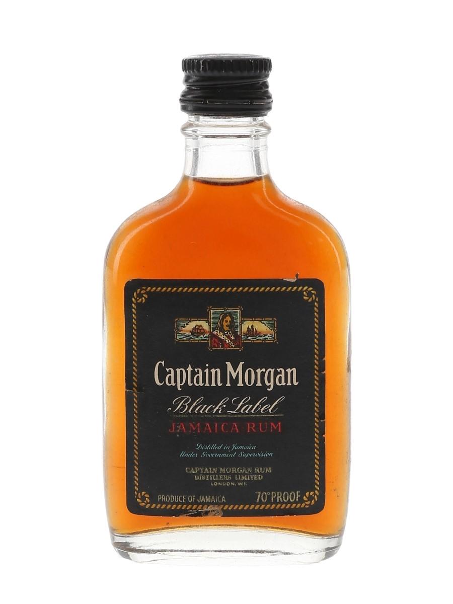 Captain Morgan Black Label Jamaica Rum Bottled 1960s 5cl / 40%