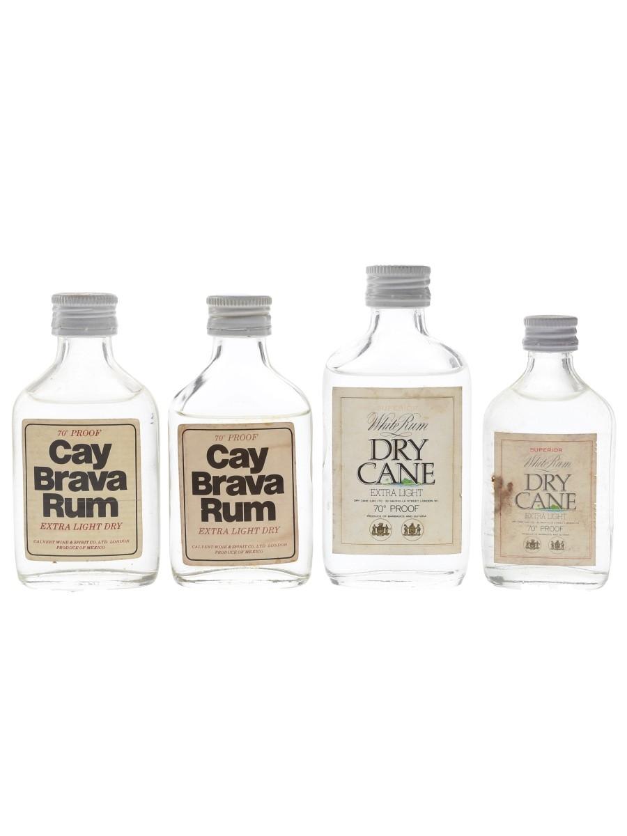 Cay Brava Rum & Dry Cane White Rum Bottled 1970s 4 x 5cl / 40%