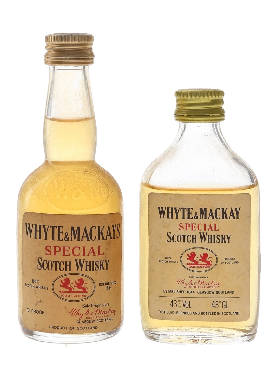 Whyte & Mackay Special Bottled 1970s & 1980s 2 x 5cl