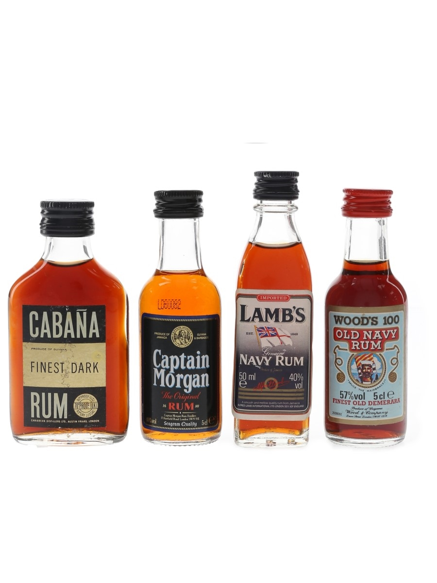 Assorted Rum Bottled 1970s, 1980s & 1990s 4 x 5cl