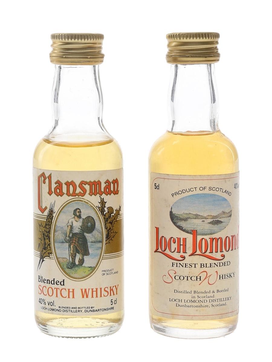Clansman & Loch Lomond Bottled 1980s 2 x 5cl / 40%