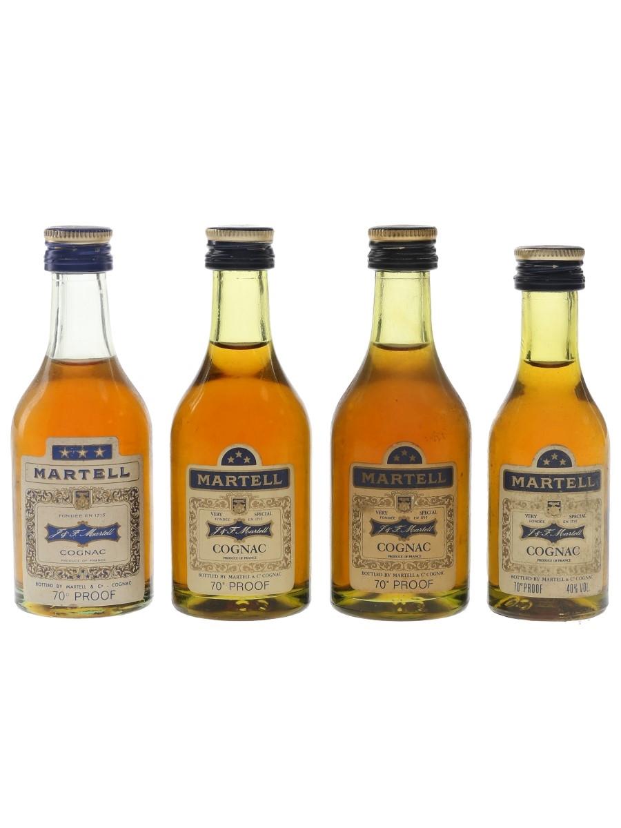 Martell 3 Star Bottled 1970s 4 x 5cl / 40%