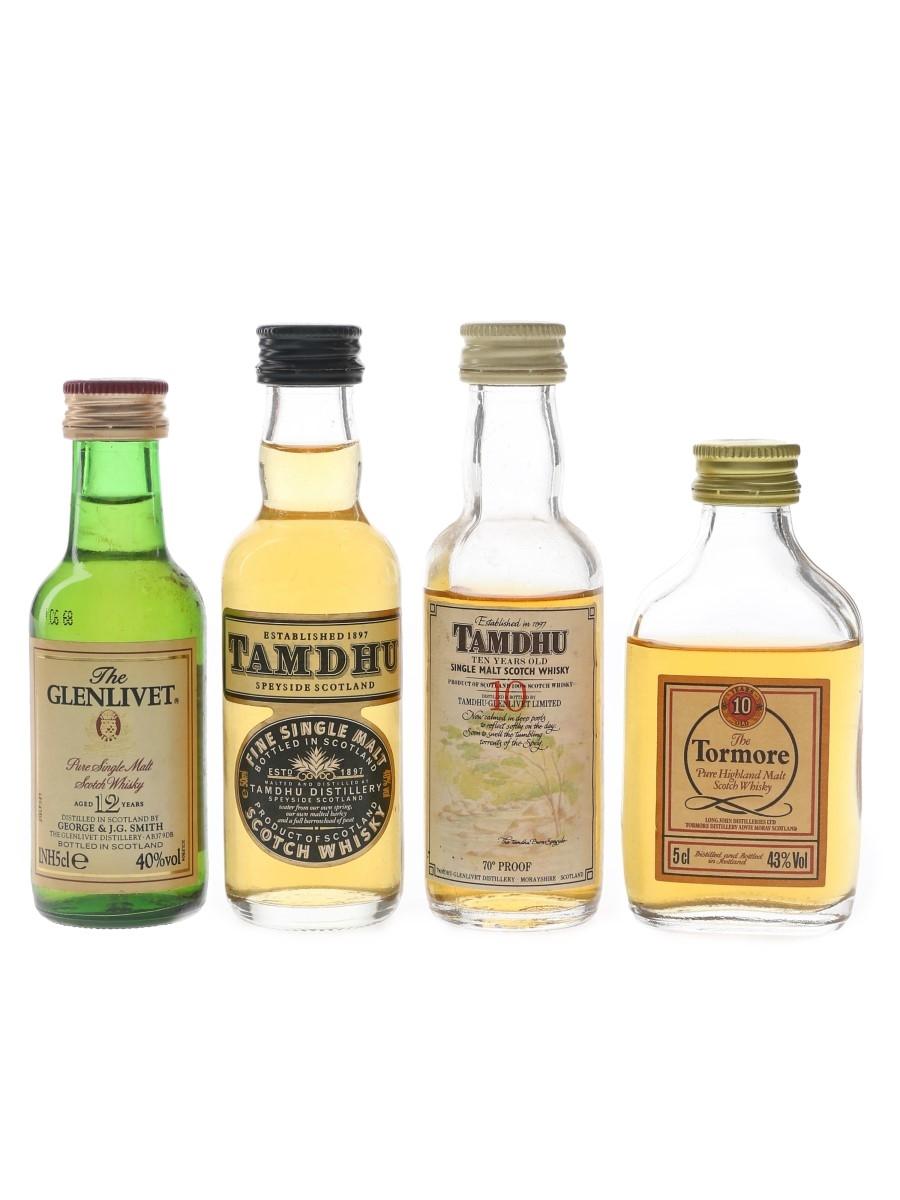 Glenlivet, Tamdhu & Tormore Bottled 1970s & 1990s 4 x 5cl