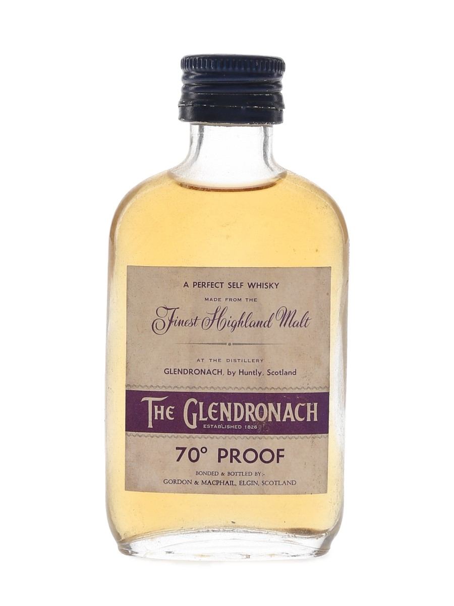 Glendronach 70 Proof - A Perfect Self Whisky Bottled 1970s - Gordon & MacPhail 5cl / 40%