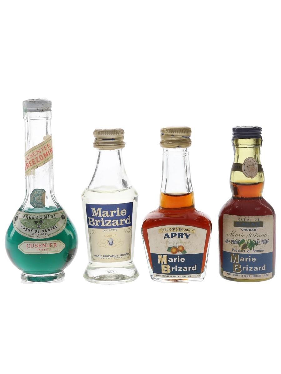 Cusenier & Marie Brizard Liqueurs Bottled 1960s-1970s 4 x 5cl