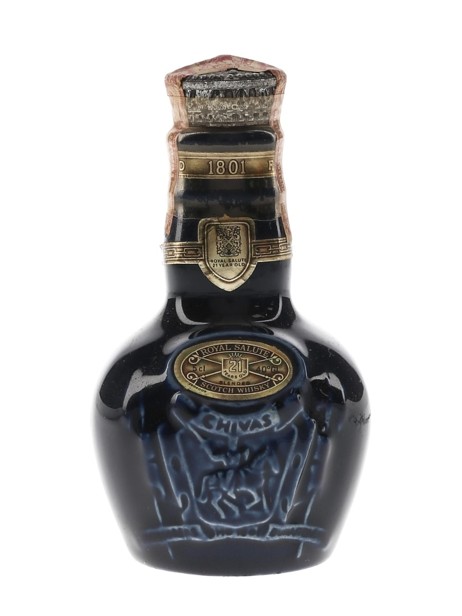 Royal Salute 21 Year Old Blue Wade Ceramic Decanter 5cl / 40%