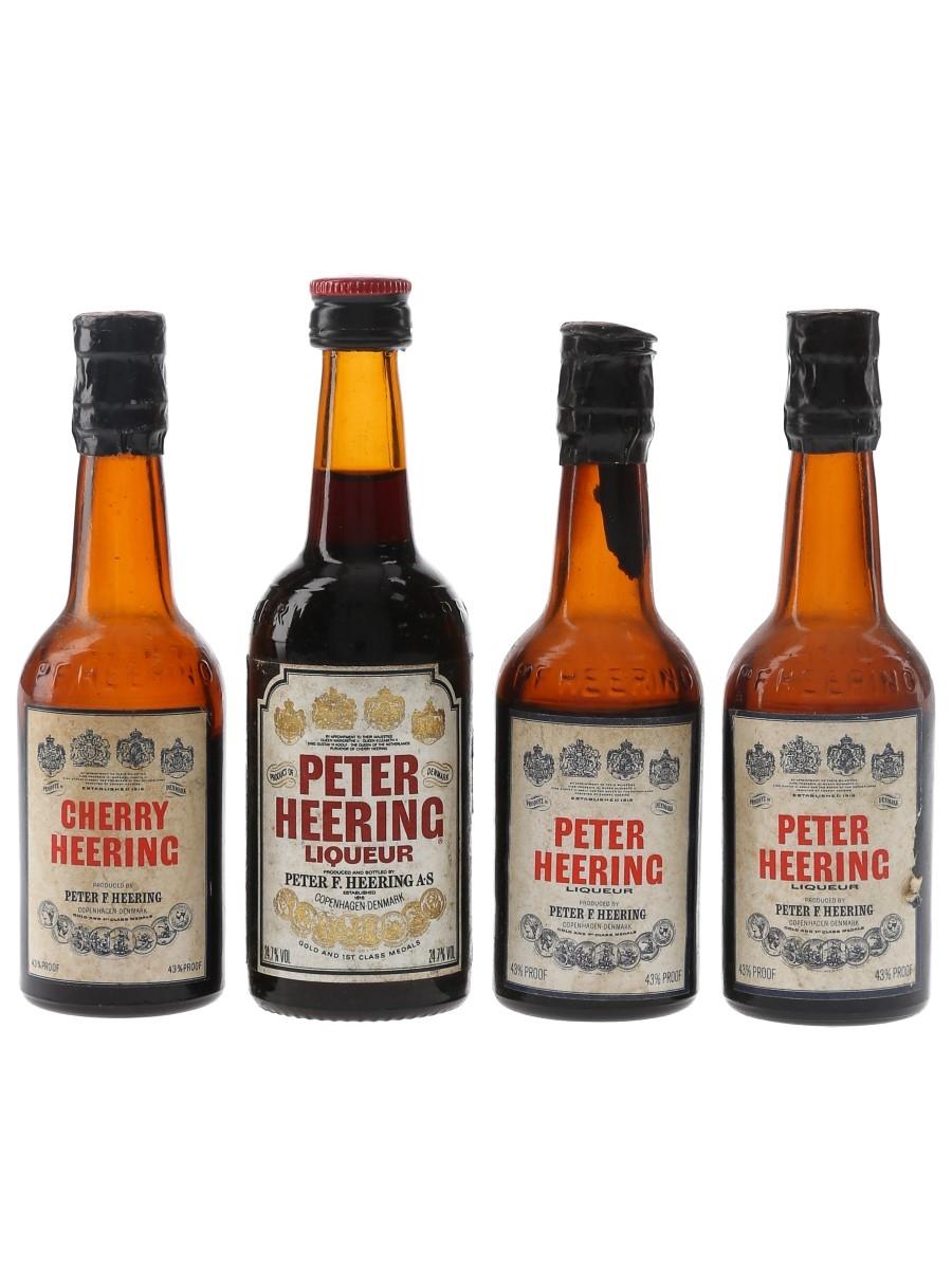Peter Heering Cherry Bottled 1960s-1980s 4 x 5cl