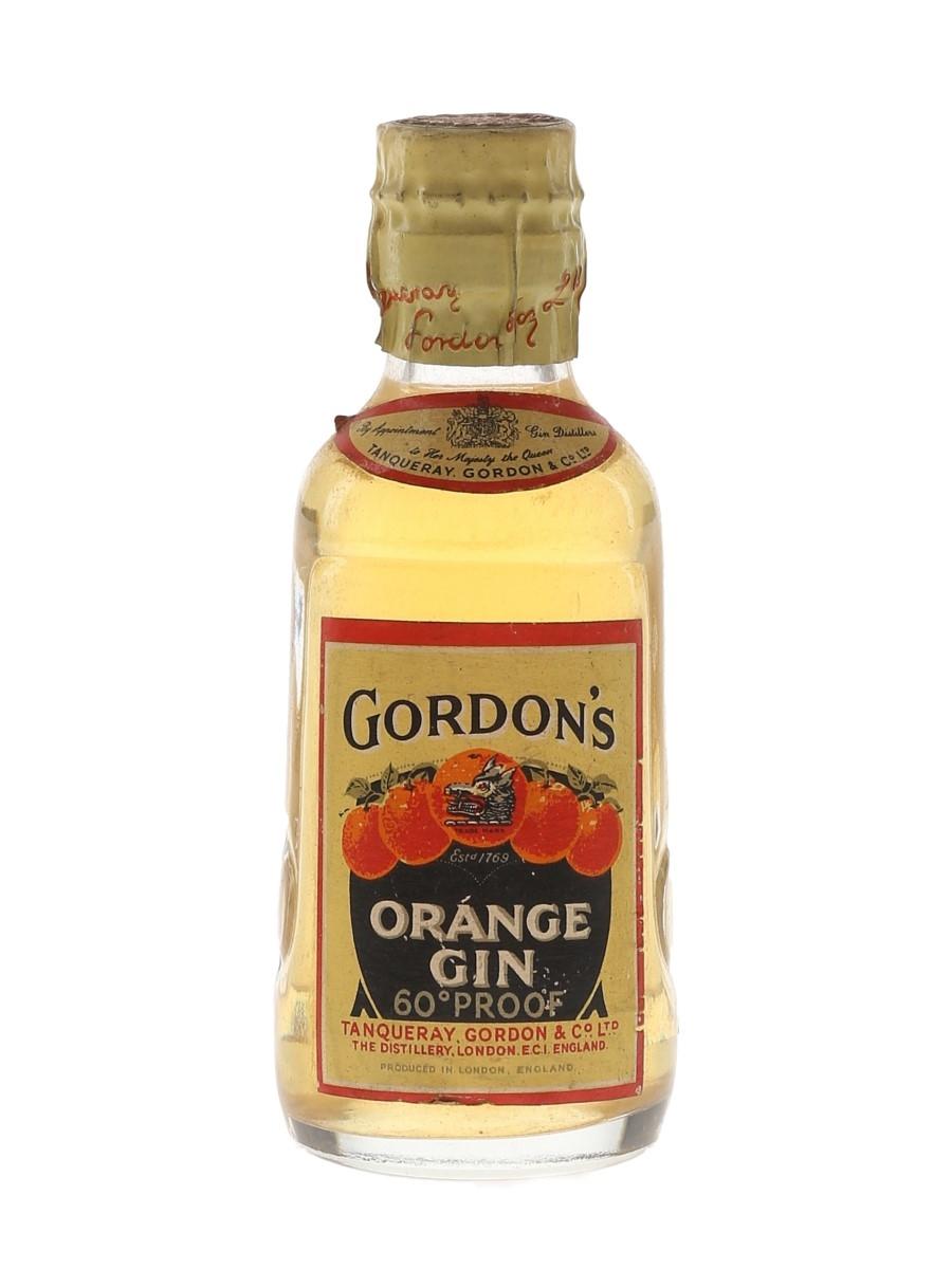 Gordon's Orange Gin Spring Cap Bottled 1950s 5cl / 34%