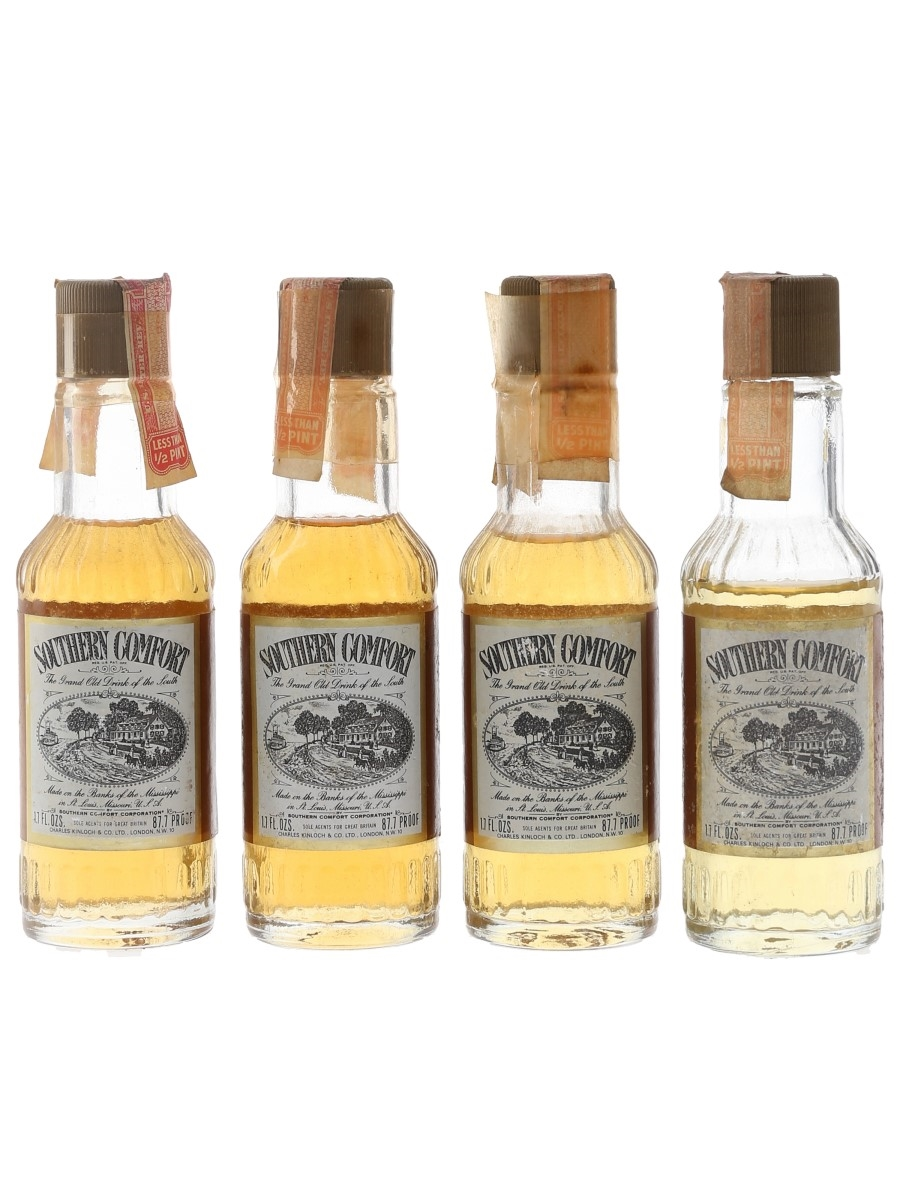 Southern Comfort Bottled 1970s 4 x 5cl / 50%