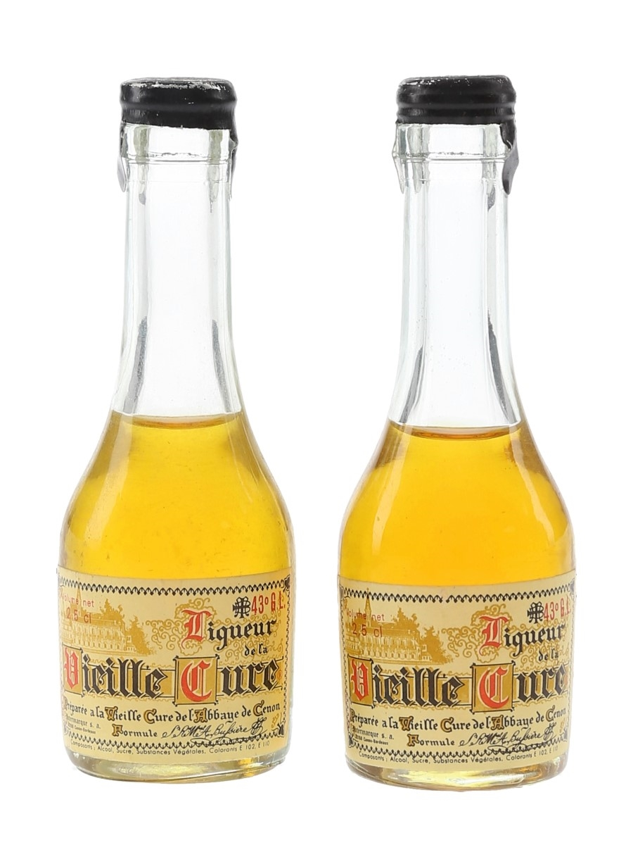 Vieille Cure Liqueur Bottled 1960s-1970s 2 x 2.5cl / 43%