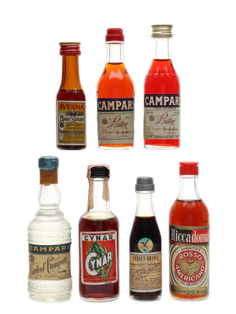 Assorted Liqueur Bottled 1950s-1980s 7 x 2cl-5cl