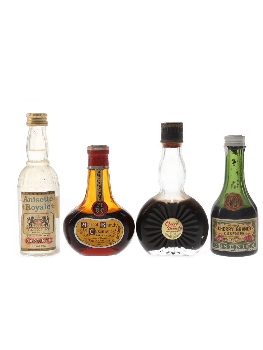 Bardinet & Cusenier Liqueur Bottled 1950s & 1960s 4 x 5cl