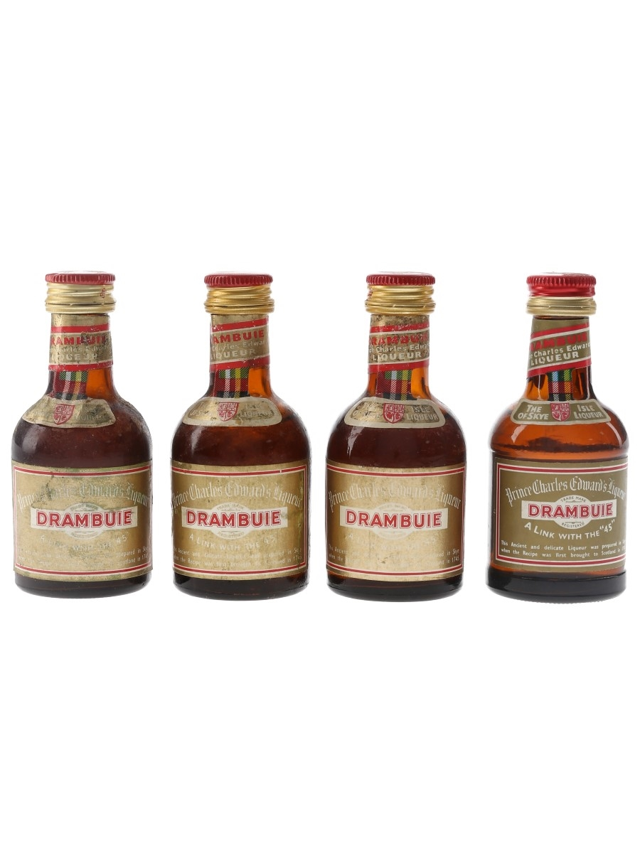 Drambuie Bottled 1970s & 1980s 4 x 5cl / 40%