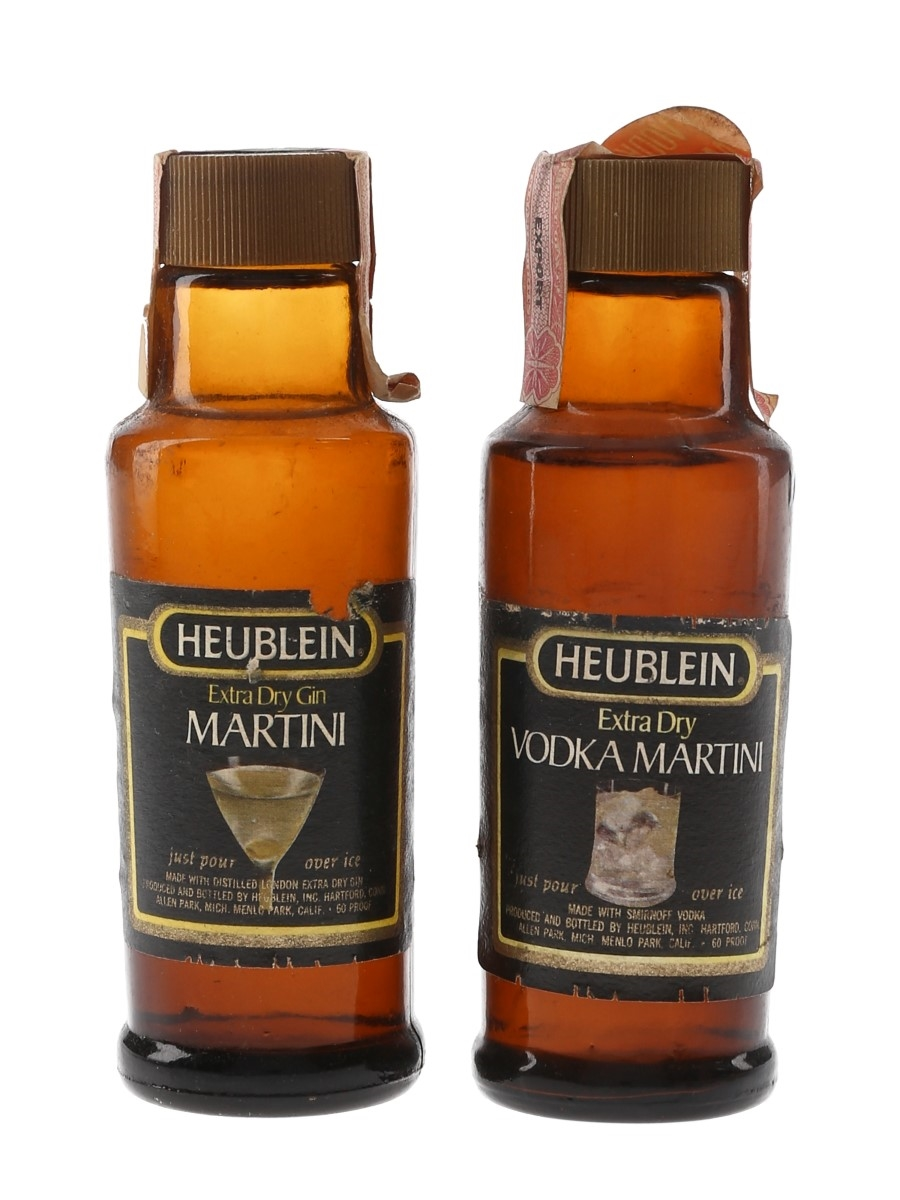 Heublein Martini & Vodka Martini Bottled 1970s 2 x 5cl / 30%