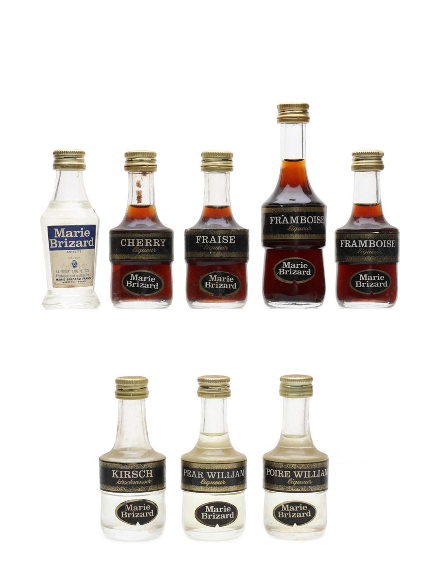 Assorted Marie Brizard Liqueurs Bottled 1970s 8 x 3cl - 5cl