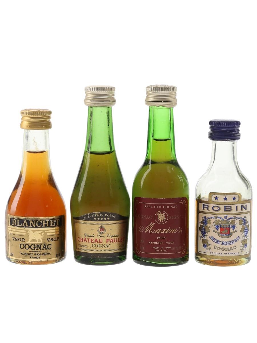 Blanchet, Chateau Paulet, Maxim's & Robin Bottled 1970s-1980s 4 x 3cl-5cl / 40%