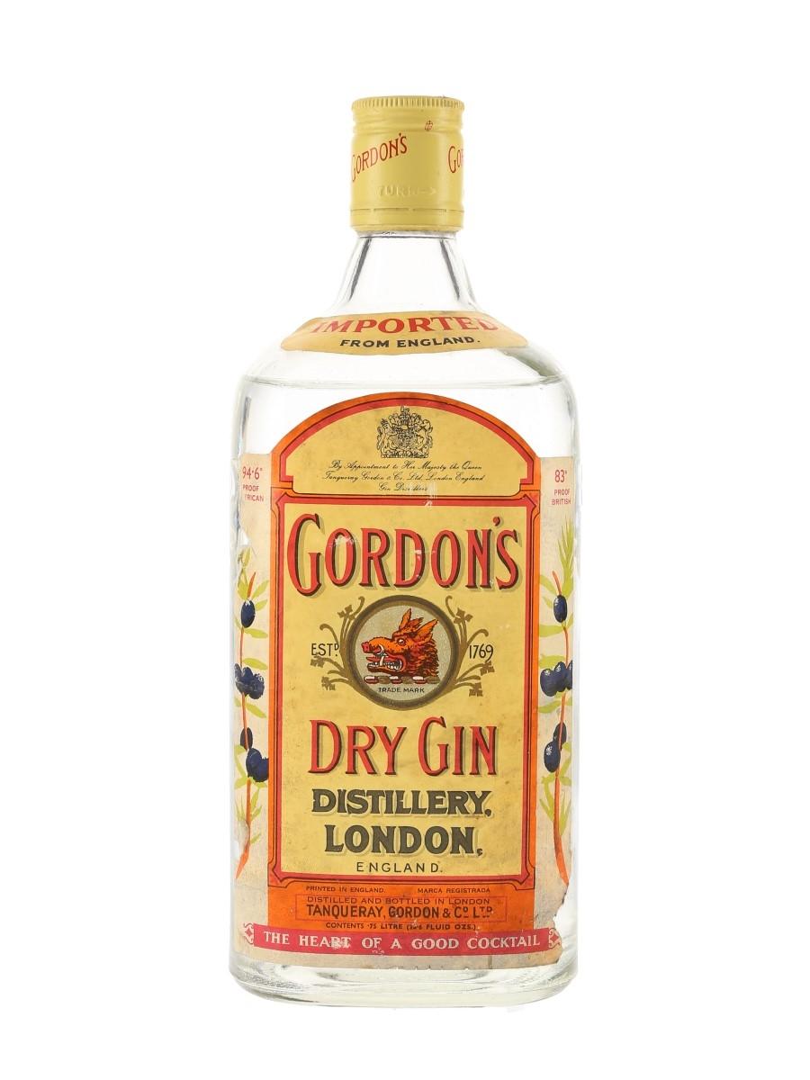 Gordon's Dry Gin Bottled 1970s 75cl / 47.4%