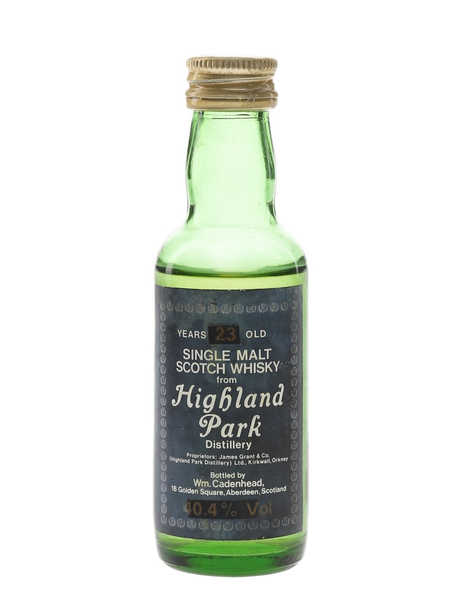 Highland Park 23 Year Old Bottled 1980s - Cadenhead 5cl / 40.4%