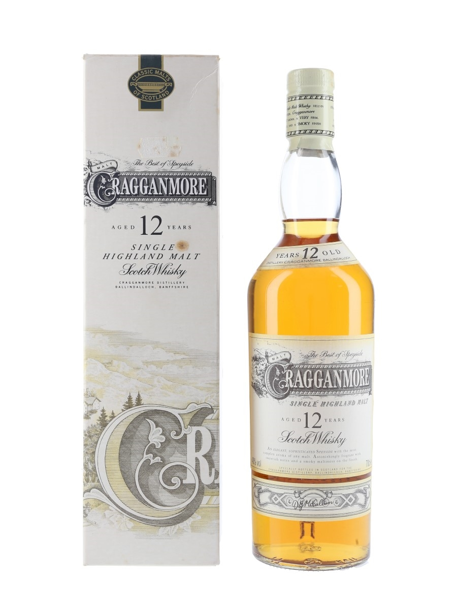Cragganmore 12 Year Old Bottled 1990s-2000s 70cl / 40%
