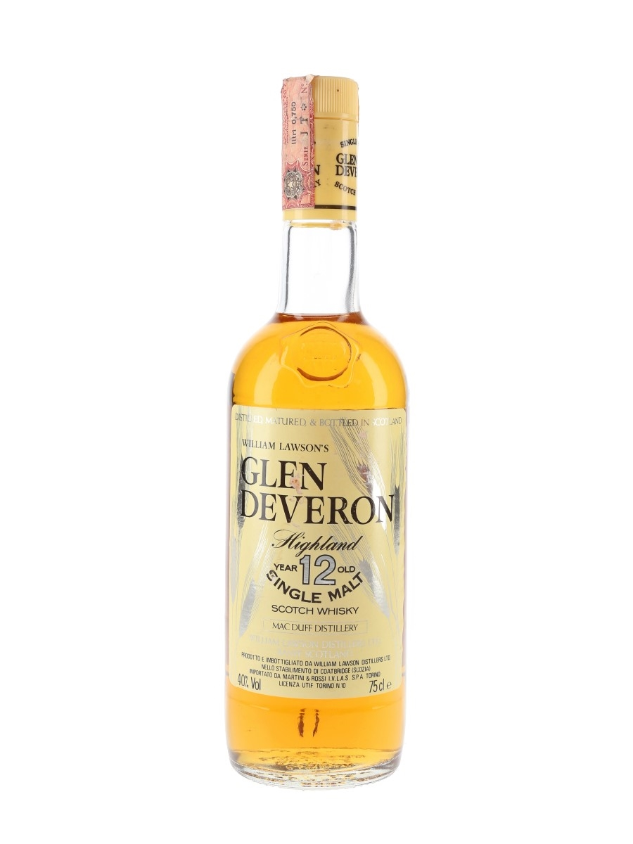 Glen Deveron 12 Year Old Bottled 1980s - Martini & Rossi 75cl / 40%