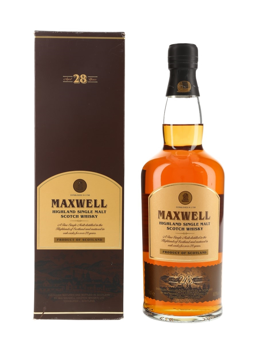 Maxwell 1982 28 Year Old  70cl / 40%