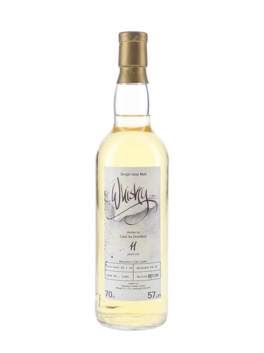 Caol Ila 1991 11 Year Old The Whisky Fair 2002 - Signatory Vintage 70cl / 57.8%