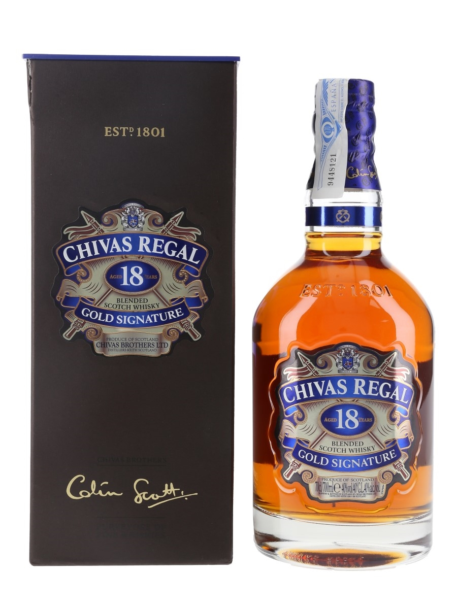 Chivas Regal 18 Year Old Bottled 2017 - Gold Signature 70cl / 40%