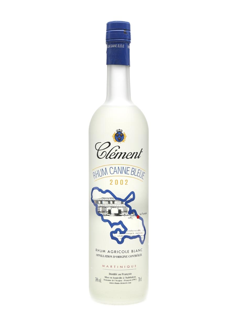 Clement 2002 Rhum Canne Bleue Rhum Agricole Blanc 70cl