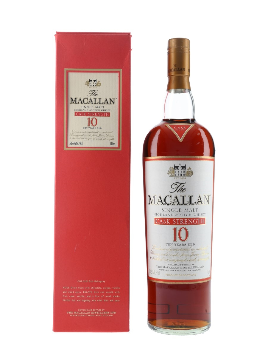 Macallan 10 Year Old Cask Strength Bottled 2000s 100cl / 58.6%