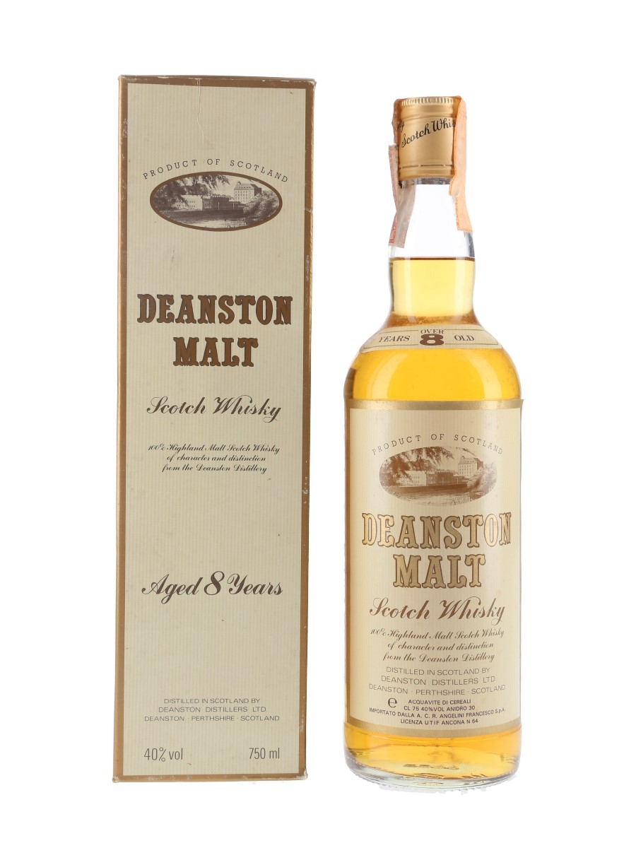 Deanston 8 Year Old Bottled 1980s - Francesco Angelini 75cl / 40%