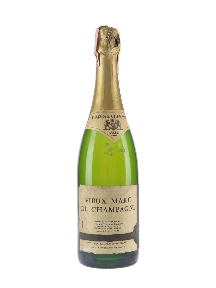 Waris & Chenayer Vieux Marc De Champagne Bottled 1970s - Seiba 75cl / 42%